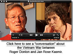 Documentary video conversation with Roger Donlon and Jan Rose Kasmir.