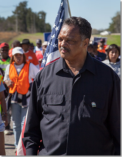 Rev. Jesse Jackson marching from Selma to Montgomery 2012
