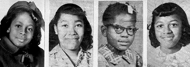 Four Girls who were bombed in Birmingham